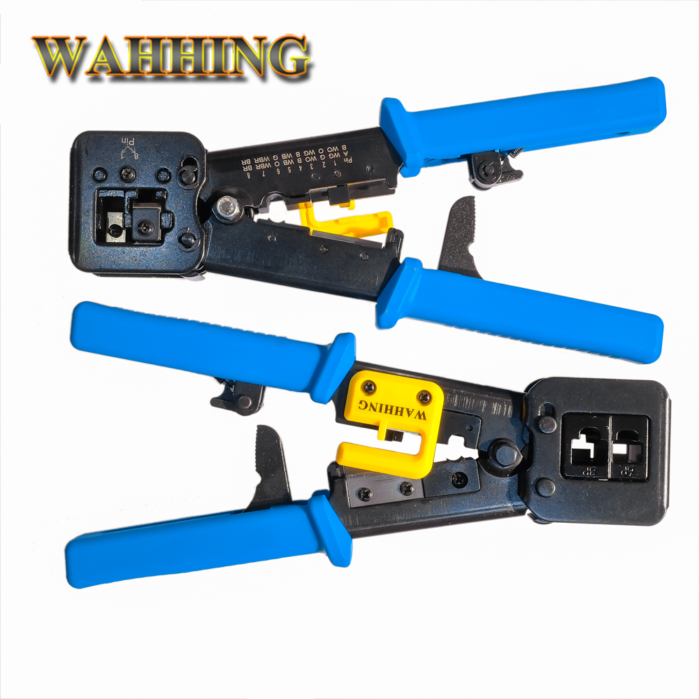 Networking Tools RJ45 RJ11 Crimping Cable Stripper Crimper RJ45 Pressing Line Clamp Pliers for RJ45 connector the 5 7 9 extrusion clamp rg6 rg11 pressing line clamp cable f head special tools