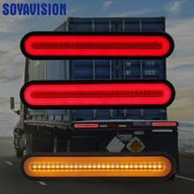 2 pçs à prova dwaterproof água 12v 24 caminhão led luz da cauda lâmpada traseira parar reversa indicador de segurança luzes de nevoeiro para reboque caminhão luzes traseiras do carro