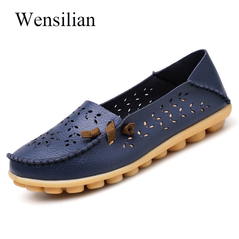 Summer Flat Shoes Women Ballet Flats Leather Shoes Ladies Moccasins Flower Soft Folding Loafers Slip On Zapatos Mujer summer women ballet flats genuine leather shoes ladies soft non slip casual shoes flower slip on loafers moccasins zapatos mujer
