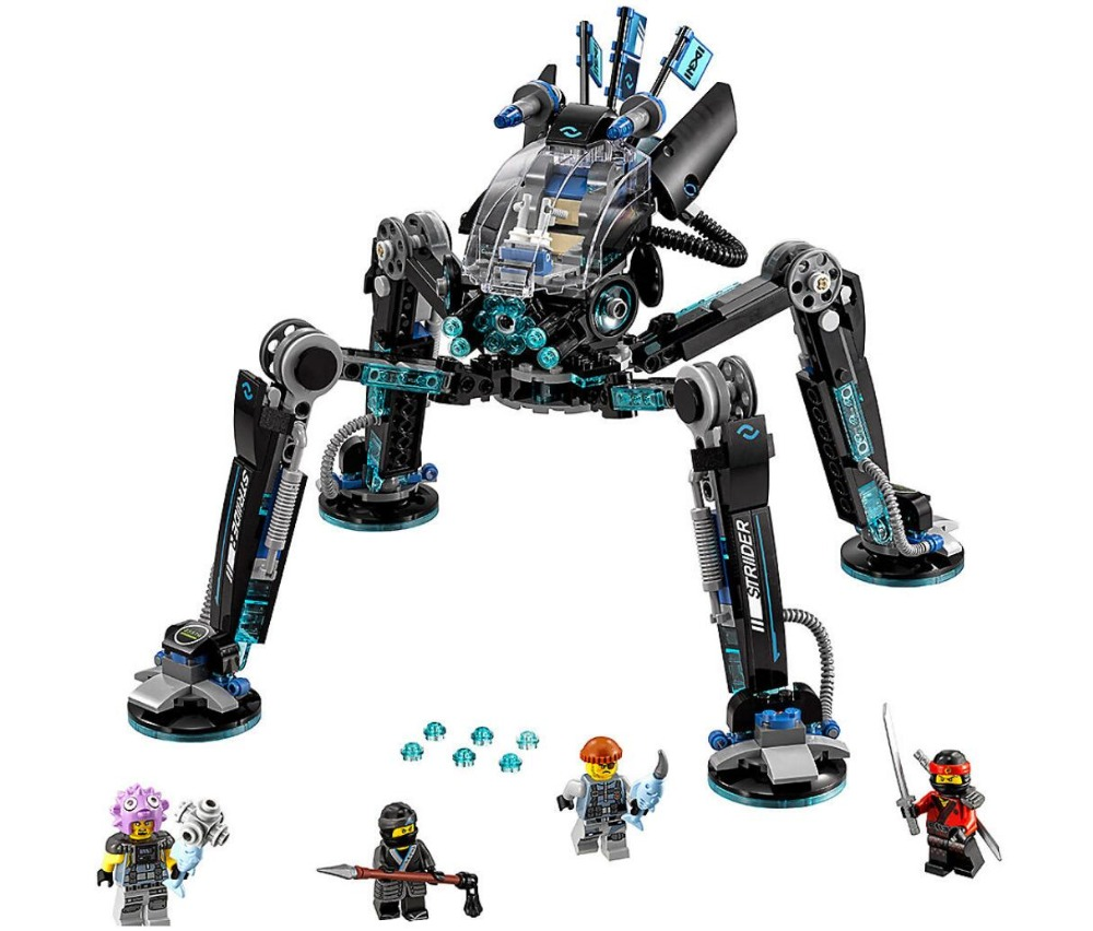 Bela 10717 Ninja Movie Series 70611 Water Spider Robot Masters of Spinjitzu Set Building Blocks Toys Compatible With Legoings michael kors сумка на руку