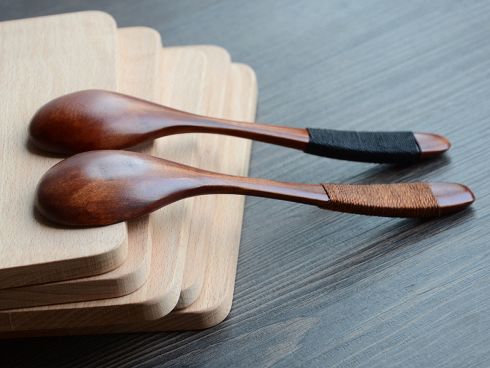 Lot Wooden Spoon Bamboo Kitchen Cooking Utensil Tool Soup Teaspoon Catering Home Kitchen Accessories#X