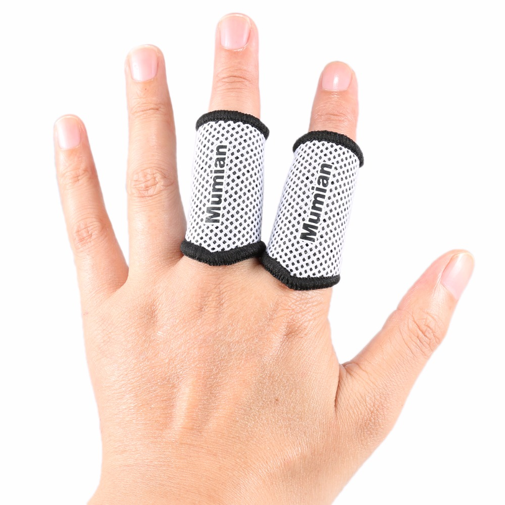 2x Stretch Elastic Arthritis Finger Fingerstall Support Protector Sleeve Sport