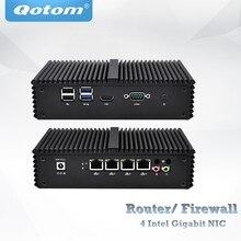 Quatro lan mini pc celeron 3215/núcleo i3 4005u/núcleo i5 4200u/núcleo i5 5200u vpn roteador aparelho, fanless pfsense caixa