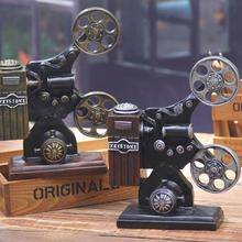 Retro Mini Resin projector Miniatures Home Decoration cafe bar Resin Crafts window display decorations F2-18L