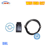 הכי חדש DHL בחינם USB ELM327 WIFI ELM 327 Wifi OBD2 סורק כלי אבחון-מוניטין טוב תמיכת אנדרואיד/עבור IPHONE/IPAD/IPOD