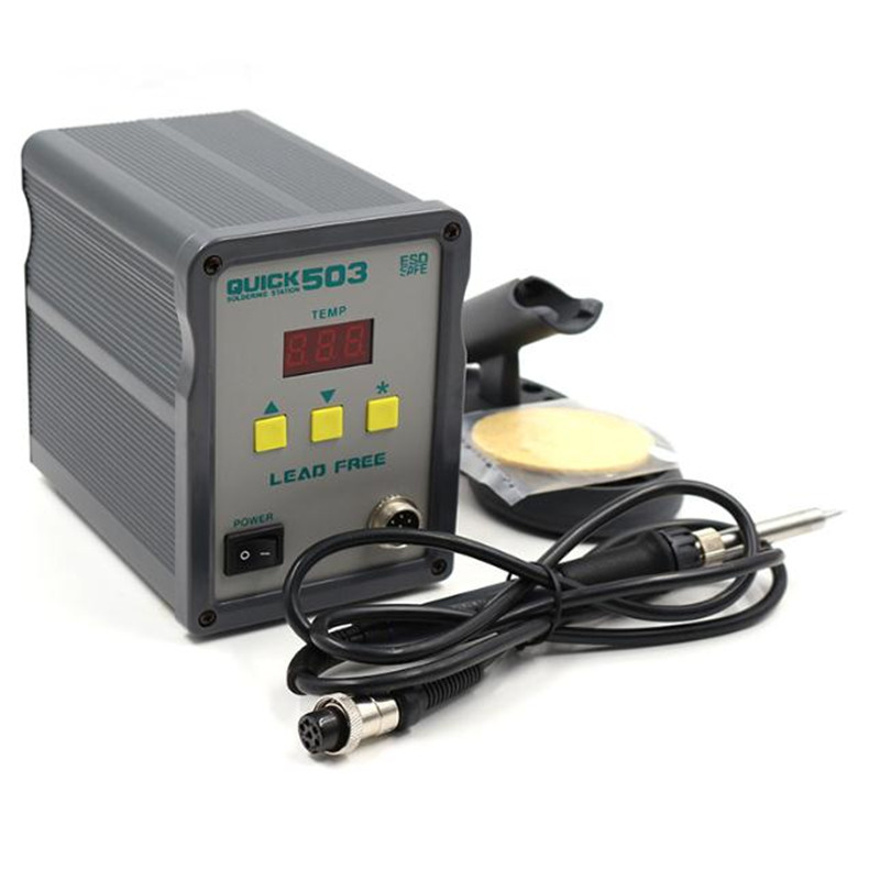 QUICK503 60W Intelligent High Frequency Lead free Soldering Station QUICK504 repair mobile phone digital display soldering iron