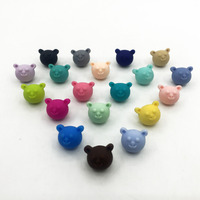 NEW Baby Bear Silicone Beads Teething Beads Safe Food Grade Nursing Chewing bear Silicone Beads 19Colors Rainbow silicone beads