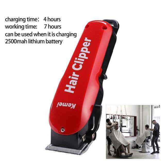 Машинка для стрижки волос барбершоп салон профессиональный триммер для волос аккумуляторная электрическая машинка для бритья Бритва KM-706Z