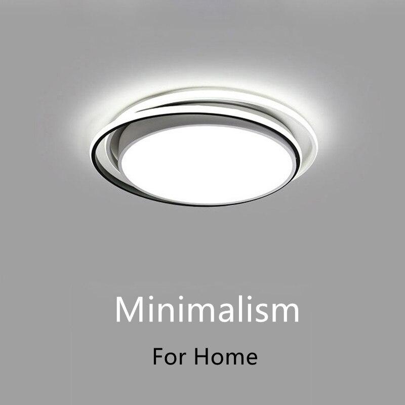 Минималистский черный, белый цвет люстры для Гостиная Спальня Освещение в помещении люстры Современные Led Люстра потолочная лампы, светиль...