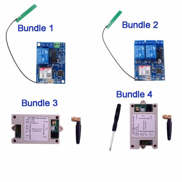 1 채널/2 채널 릴레이 모듈 SMS GSM 원격 제어 스위치 SIM800C STM32F103CBT6 온실 산소 펌프 FZ3024/FZ3064