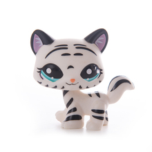 купить Pet Shop Lps Toy Stand Cute Short Hair Cat Short Hair Dog Great Dane Dachshund White Pink Flash Kitty Child Toy по цене 261.35 рублей