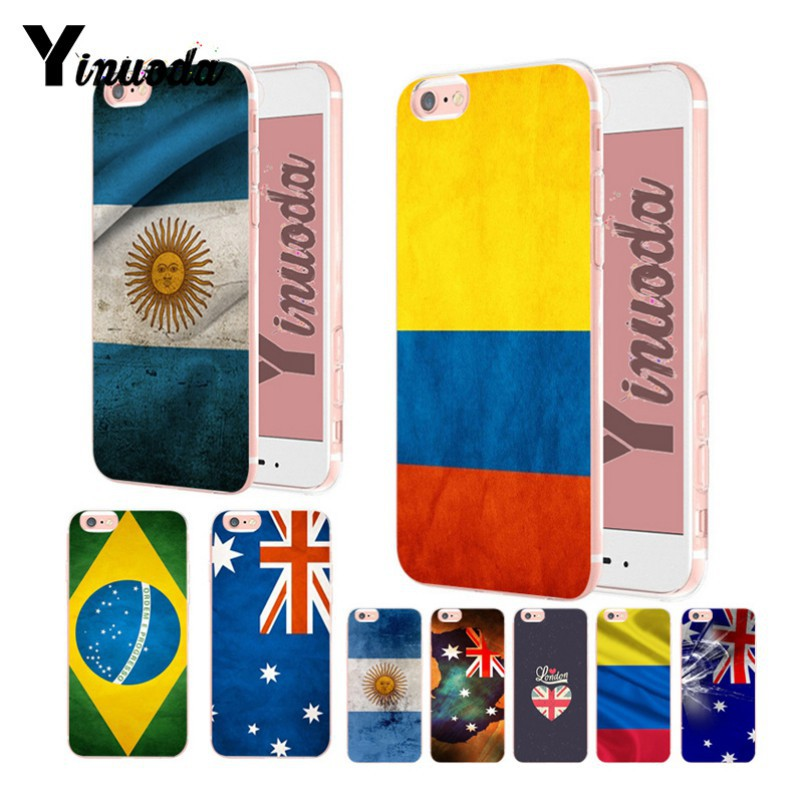 US $1 15 42% OFF|Yinuoda Colombia Brazil Argentina Australia Flag Soft  silicone Cover case For iPhone X XS XR XSMax 8 8p 7 7plus 6s 6sPlus  coque-in