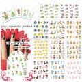 2015NEW 20 ШТ./ЛОТ BLE399-409 Пасхальный Кролик Куриное Яйцо ногтей наклейки Nail Art Советы Наклейки Ложным Дизайн Ногтей Маникюр Наклейки