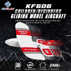 Image 1 - 2019 KFPLAN KF606 2.4Ghz 2CH EPP Mini kryty RC szybowiec samolot wbudowany Gyro RTF dobra elastyczność, silna odporność na upadek