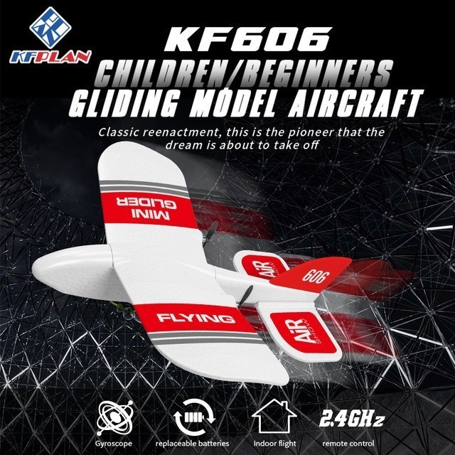 2019 KFPLAN KF606 2.4Ghz 2CH EPP Mini kryty RC szybowiec samolot wbudowany Gyro RTF dobra elastyczność, silna odporność na upadek