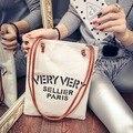 2016 Women New canvas shoulder bag Letter printing fashion handbags Leather shoulder strap bag