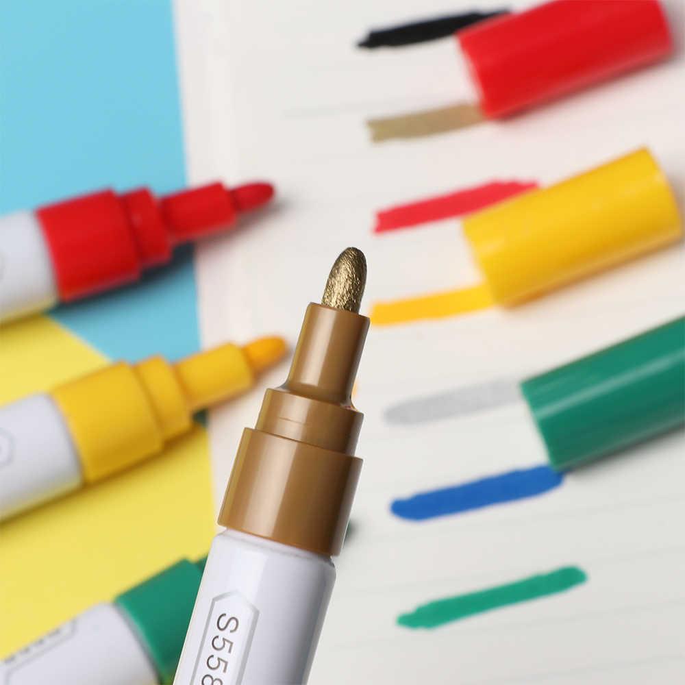 Перманентный маркер, белые масляные чернила, маркеры для краски шин, маркеры, канцелярские принадлежности, школьные и офисные принадлежности, маркеры, маркеры, деревянные маркеры