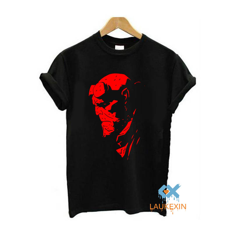 HELLBOY COMIC SUPERHERO COOL T SHIRT UNISEX FUNNY CASUAL ROUND NECK T SHIRT  Camisetas Hombre TOPS TEE SHIRT US SIZE-in T-Shirts from Men's Clothing on  ... 7d86a681c8d9