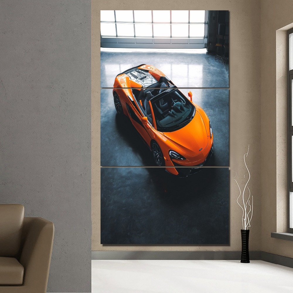 Wall art pictures 5 piece 5 Pieces Canvas Wall Art Mclaren Senna Supercar Paintings HD Printed Posters Modular Pictures For Living Room Decor