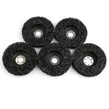 5 pçs ferramentas abrasivas 115mm tira rodas pintura ferrugem remoção limpo ângulo moedor discos ferramentas para moedor de ângulo