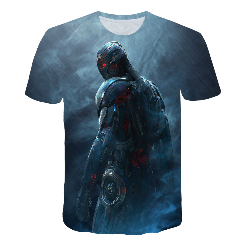 Christmas Gift Male Shirt Sleeve T-shirts Superhero Age of Ultron Cosplay 3D Printed Men Compression Fitness Top
