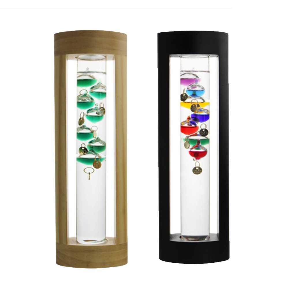 Creative Glass Suspension Colorful Ball Galileo Thermometer Set With Gift Box Innovative Gift For Valentine's Day Party Gifts