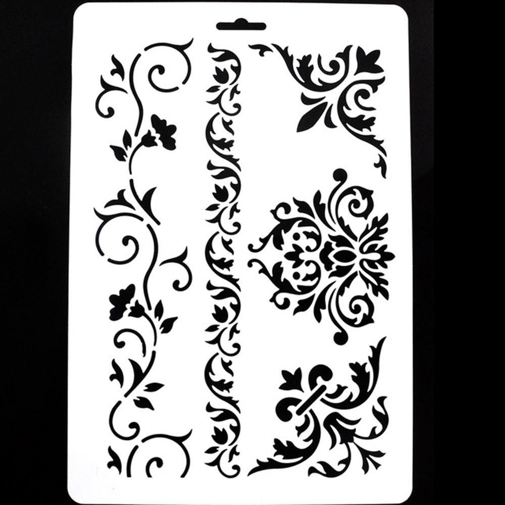 1 Pc DIY Craft Layering Stencils For Walls Scrapbooking Painting Template Stamps Album Decorative Embossing Paper Cards cutiepie kinds of 0 9 numbers transparent clear stamps for scrapbooking diy silicone seals photo album embossing folder stencils