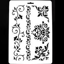 1 db DIY Craft rétegező szalagok a falak számára Scrapbooking festmény sablon bélyegek Album Dekoratív dombornyomás Papír kártyák