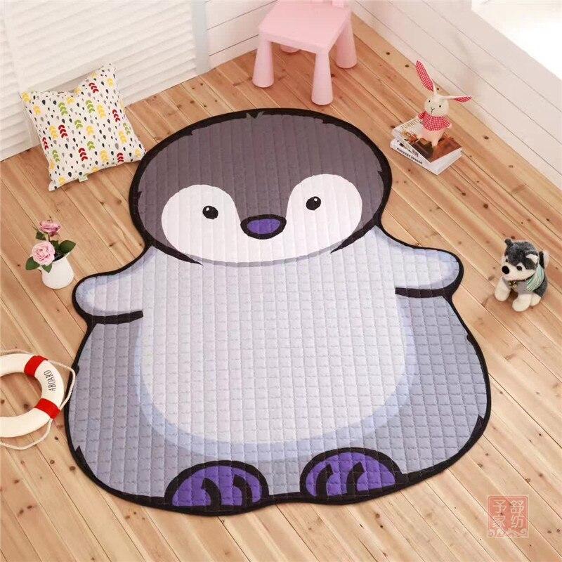 Tapis créatif Crocodile pingouin Hippo tapis de style décoration bébé ramper jeu Pad salon chambre tapis