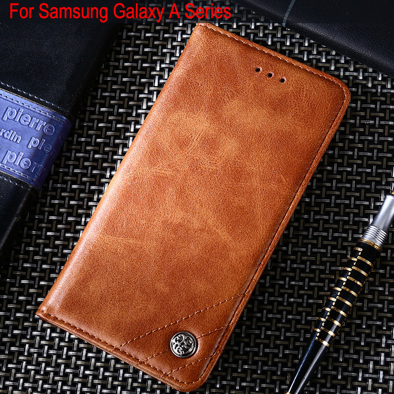 coque for samsung galaxy A5 A6 A7 A8 2016 2017 2018 Plus case Luxury Leather Flip cover Stand Without magnets phone Capa funda