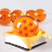 1 pièce 7 CM Japon Anime Dragon ball Z étoiles crystal ball Big Taille emballage de détail peut choisir étoiles