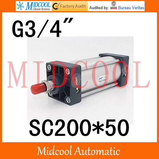Sc series standard Adjustable cylinder SC200*50 single thread rod double-acting cylinder port 3/4 sc series standard adjustable cylinder sc125 125 single rod double acting air compressor piston hydraulic cylinder