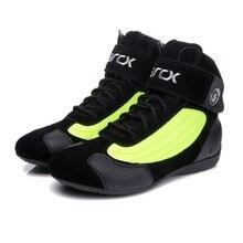 ARCX Moto bottes Moto bottes déquitation en cuir de vache véritable Moto motard Chopper Cruiser Touring cheville chaussures Moto chaussures
