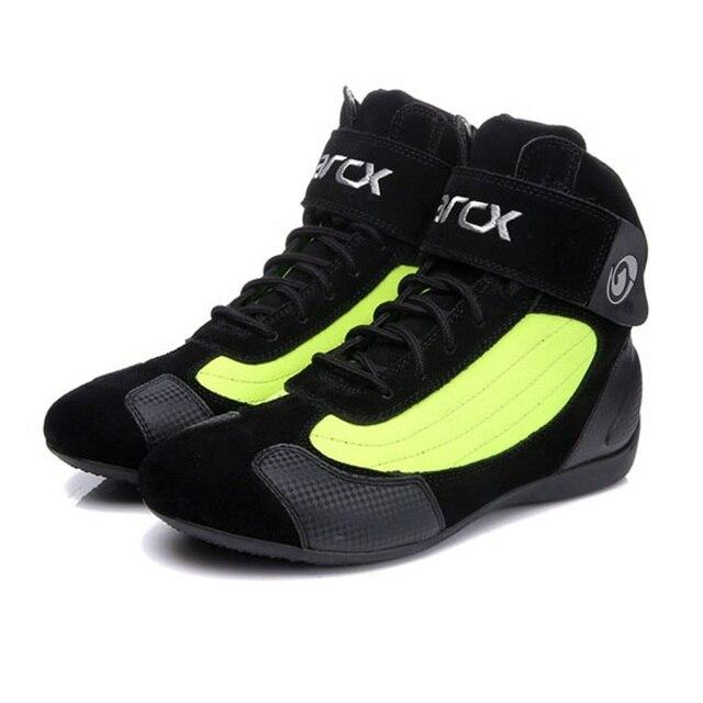 ARCX 오토바이 부츠 모토 라이딩 부츠 정품 암소 가죽 오토바이 바이커 헬기 순양함 투어링 발목 신발 오토바이 신발