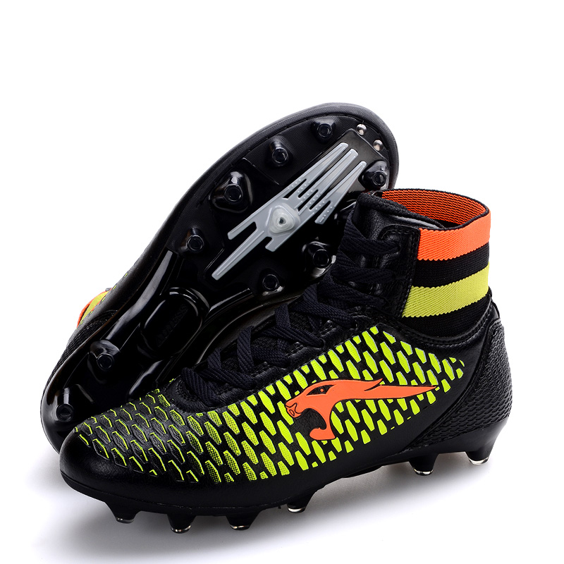 bbbbe92d0 New Size 33-46 Men Soccer Shoes Kids Soccer Cleats FG High Ankle Football  Boots Boys Outdoor Training Sneakers zapatos de futb