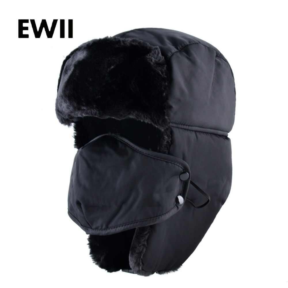 096d353b9f6 2017 Ushanka russian faux fur cap men winter hats ear flaps snow bomber hat  for women