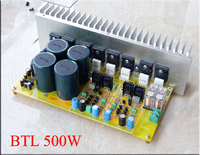 600 700W NJW0281 NJW0302 / MJL4281 MJW4302 / 5200 1943 BTL Fully symmetric double difference Amplifier board DIY kts