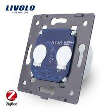 LIVOLO EU Standard ZigBee switch ,  The Base Of  Wall Light wireless smart Touch Switch, 2Gang 1Way, AC 220~250V ,VL C702Z