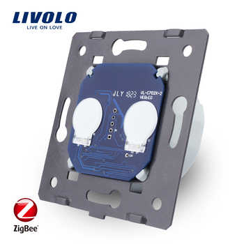 LIVOLO EU Standard ZigBee switch ,  The Base Of  Wall Light wireless smart Touch Switch, 2Gang 1Way, AC 220~250V ,VL-C702Z - DISCOUNT ITEM  10% OFF All Category