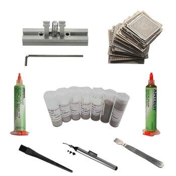 цена 144pcs/lot BGA Reballing stencils directly heating jig bga station solder ball flux scraper vacuum pen онлайн в 2017 году