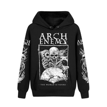 5 designs Sweden Arch Enemy Cotton Rock hoodies winter jacket punk heavy death metal black men pollover Skull demon sweatshirt