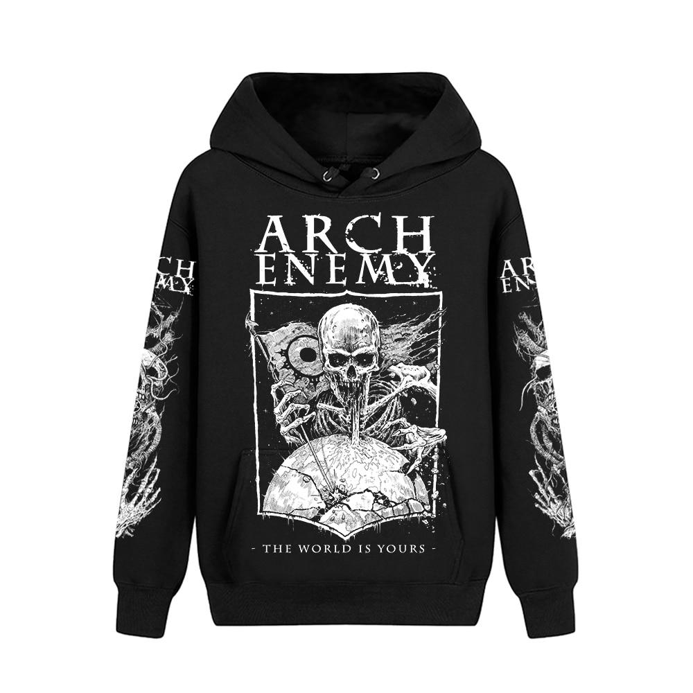 5 wzorów szwecja Arch Enemy bawełna Rock bluzy kurtka zimowa punk heavy death metal czarny mężczyźni sweter czaszki demon bluza w Bluzy z kapturem i bluzy od Odzież męska na  Grupa 1