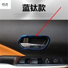4 шт./лот, автомобильные наклейки из нержавеющей стали, для межкомнатных дверей, рукопожатие, украшение, покрытие, круг для- Nissan KICKS P15