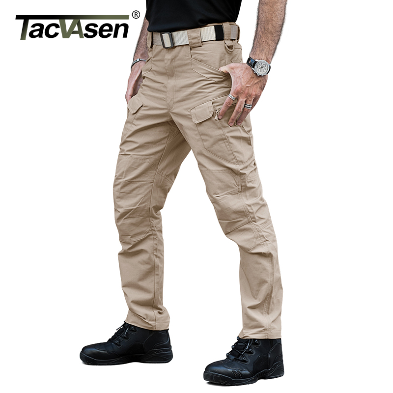 TACVASEN New Men Rip-stop Tactical Pants Waterproof Cargo Pants Casual Pants Military Combat Trousers Army Clothing TD-YCXL-034