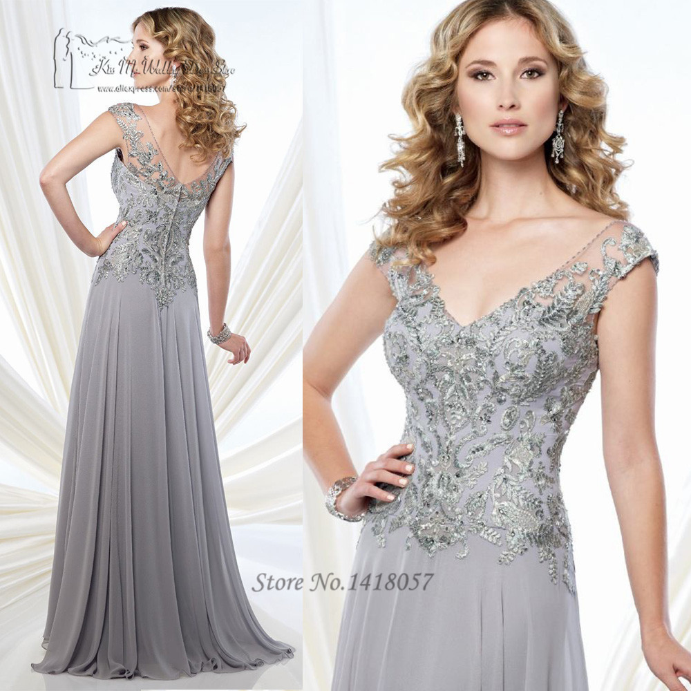 Buy silver grey mother of the bride lace for Gray dresses for a wedding