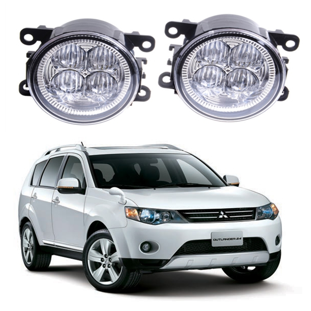 For MITSUBISHI OUTLANDER II CW_W Closed Off-Road Vehicle  2006-2012 10W High power Lens fog lights Car styling Fog Lights 1set seintex 00560 для mitsubishi outlander ii 2006 2012