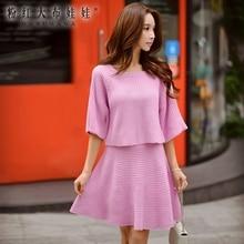 dabuwawa female sweater autumn new korean fashion short paragraph loose casual fashion knitted pullovers women pink doll