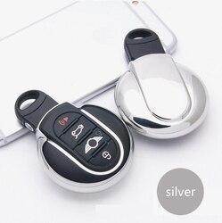 소프트 tpu 자동차 키 커버 홀더 셸 지갑 포켓 bmw 미니 쿠퍼 한 재미 f54 f55 f56 r56 r57 r58 r59 r60 r61 액세서리