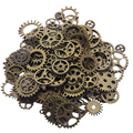 Wholesale Mix 100pcs Vintage steampunk Charms Gear Pendant Antique bronze Fit Bracelets Necklace DIY Metal Jewelry Making F0206A