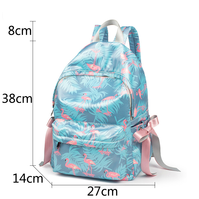 Leather Pipeapple Flamingo Backpack Daypack Bag Women